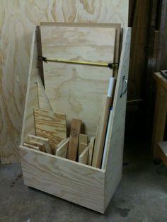 Wood storage on wheels.......D.
