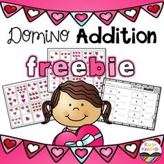 Valentine's Day FREEBIEThis is a fun way to help your kids with counting, writing, and adding two numbers together. School Holiday Activities, Valentines Day Activities, Valentine Theme, Kindergarten Activities, Kindergarten Classroom, Preschool, School Holidays, Literacy Stations, Reading Stations