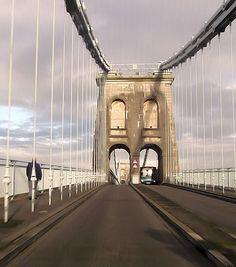 Menai bridge from Bangor side