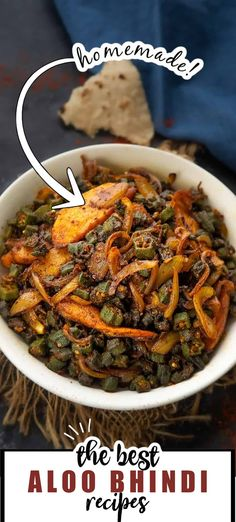 A simple everyday Indian stir fry, Aloo Bhindi or Bhindi Aloo is made with the combination of potatoes and Okra with some basic spice powders. Here is how to make it. Good Food, Recipes, Rezepte, Food Recipes, Healthy Meals, Recipies, Recipe, Eating Well, Cooking Recipes