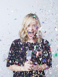 Bursting confetti to represent the HAPPY of my brand?