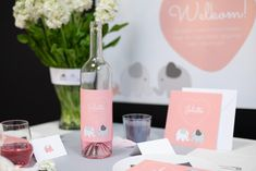 Stap #8. Flesetiketten! #babyshower #kraamfeest #tabledecoration #babyborrel #birth #bottle #stickers #party #blog #beaublue