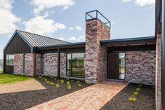 Previous Show Homes - Hamilton - Urban Homes Brick Cladding, House Cladding, Facade House, Sustainable Building Design, House Plans South Africa, Recycled Brick, Modern Farmhouse Exterior, Modern Architecture, House Design