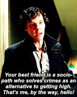 *Spoilers*I love how true this statement is...he's just being 100% done sherlock. He's gonna fix the issue and this is how he does it.