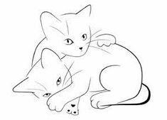 Cartes postales d& félin - # cats - Katzen Foto - Cat Drawing, Line Drawing, Painting & Drawing, Draw Cats, Silkscreen, Cat Quilt, Cat Tattoo, Easy Drawings, Animal Drawings