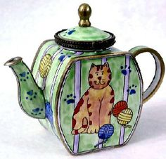 Teapot Collectibles | ... Enamel Teapot by Kelvin Chen by Treasured Collectibles and Gifts