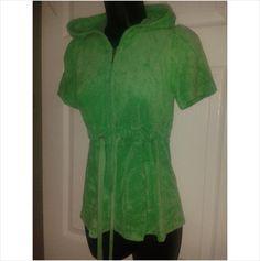 Designer JUICY COUTURE Ladies Towel Hooded Casual Smart Jacket Top