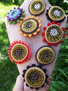 Lots of new brooches!! by woolly fabulous, via Flickr