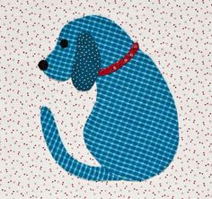 Puppy dog applique, in:  Inspired by Tradition by Kay MacKenzie.  Featured at Quilt Shop Gal 2011.
