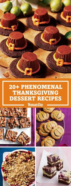 Cool These Thanksgiving dessert recipes will have everyone begging for seconds. Guests will get in the Thanksgiving holiday spirit when they try these adorable Pilgrim Hat Cookies. Have turke ..