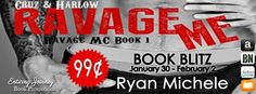 Sale Alert! Ravage Me by Author @Ryan_Michele is only $.99! Get your copy today! http://twinsistersrockinreviews.blogspot.com/2015/02/sale-alert-ravage-me-by-ryan-michele.html
