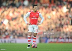 Alexis Sanchez of Arsenal during the FA Cup Fifth Round match between Arsenal and Middlesbrough at Emirates Stadium on February 15, 2015 in London, England.