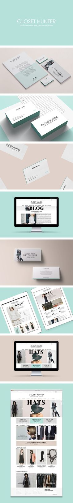 Closet Hunter brand ID by Smack Bang Designs: