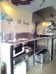 stainless steel vintage catering van - Google Search