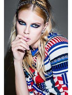 Spring Makeup Trend - Blue Eye Makeup | allure.com