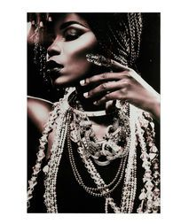 Stupell Industries Stupell Industries Fashion Model Adorned In Jewelry Black And White Portrait Wall Plaque Art By Desig Image Deco, Cobra Art, Tableau Design, Portrait Wall, Queen Art, Moe's Home Collection, Word Design, Global Design, Black And White Portraits