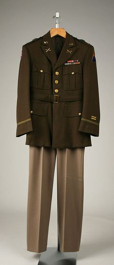 Military Uniform - American, c. 1941 I wish the army went back to these colors.
