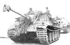 Hunting-Panther.jpg (700×451) Jagd Panther. Artwork by Tim Bumb.