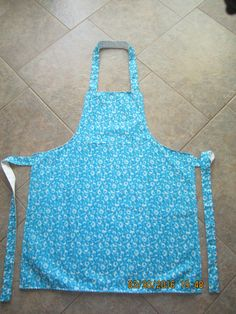 Sunshine Floral {Turquoise} Cotton (white backing-no pockets) - Adult Sized Apron by ShawnasSpecialties on Etsy