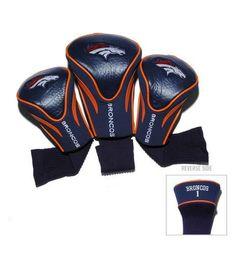 Denver Broncos Contour Gollf Club HeadCover - 3 Pack