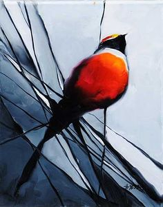 Bird Series - painting by Harold Braul at Crescent Hill Gallery