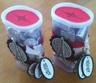 Empty Crystal Light Container Crafts- themed gifts- I have a friend going to Paris soon.  What a great little Bon Voyage treat with chocolates she can enjoy at the airport, on the plane or in her hotel room!