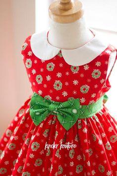 "Christmas ""Wee Bitty"" Holiday Dress - Kinder Kouture  - 1"