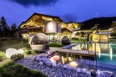 Hotel-Unterlechner-Livingpool-5 Mansions, House Styles, Home Decor, Walking Routes, Mansion Houses, Homemade Home Decor, Villas, Fancy Houses, Interior Design