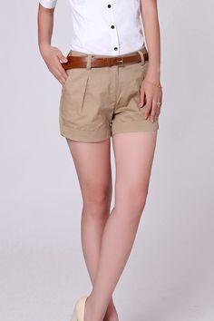 Summer Woman Cotton Shorts - FashionandLove.com