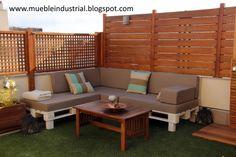terraza sofa palet