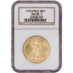 2000 American Gold Eagle 1 ounce oz $50 - certified NGC MS69
