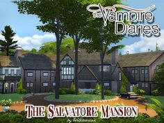 The Vampire Diaries Salvatore's Mansion - The Sims 4 Catalog The Vampire Diaries, Vampire Diaries Fashion, Vampire House, Sims Love, House Party Outfit, Sims Building, Building Design, Sims 4 Gameplay, Casas The Sims 4