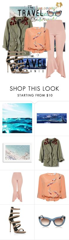 """""""Travel ready"""" by secureyourlunch ❤ liked on Polyvore featuring Lonely Planet, Banana Republic, Stella Jean, Giuseppe Zanotti and Jennifer Behr"""