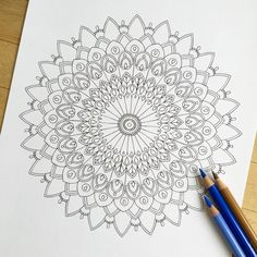 mandala utopia hand drawn adult coloring page print