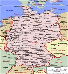 map of german cities Google Search MAPS in 2019
