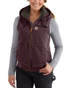 Carhartt Damen Weathered Duck Wildwood Weste, Wine Women's Shoes Women's Shoes Vest Outfits, Cute Outfits, Fashion Outfits, Work Outfits, Fall Outfits, Fashion Ideas, Fashion Trends, Cheap Fashion, Latest Fashion For Women
