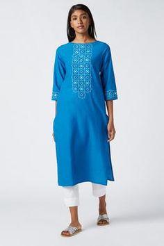 Mirror Work Dress, Ethnic Chic, Cool Fabric, Cotton Dresses, Casual Looks, Kurti, Organic Cotton, Cold Shoulder Dress, Vogue