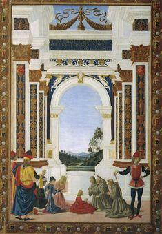 Perugino, Tavolette di San Bernardino, 1473, Perugia, Galleria Nazionale dell'Umbria