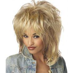Womens Rock Soul 80s Wig