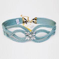● Cinturón de cordón de seda   Modelo CHARLOTTE   Diseño de OLVIDO MADRID
