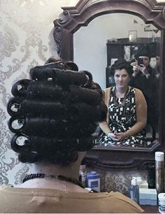 Hair Curlers Rollers, Feminized Husband, Wet Set, Perm Rods, Bobe, Hair Setting, Roller Set, Pin Curls, Vintage Glamour