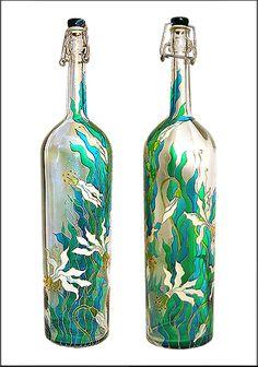 Olga Rodionova. Hand painted bottle