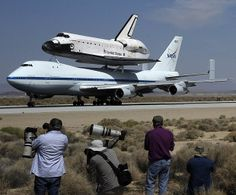 The Space Shuttle Endeavour: after 25 missions from 1992 - 2011, the last space shuttle built by NASA is making its way to the california Science Center by piggybacking on a NASA 747 Boeing carrier 9.21.2012