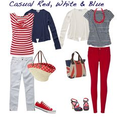 what to wear patriotic red white and blue - casual
