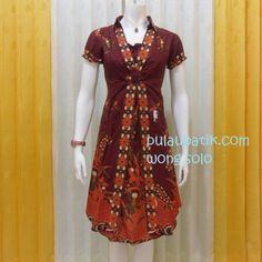 Toko jual model dress batik wanita murah bisa dipakai buat ke pesta dan  acara resmi. Bahan kain katun primissima dengan warna merah maron yang  cantik elegan 57f01f0377