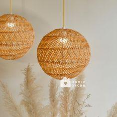 Round Rattan Light Nice Curving Pendant Light Natural | Etsy Rattan Light Fixture, Rattan Pendant Light, Rattan Lamp, Rustic Pendant Lighting, Ceiling Pendant, Pendant Lamp, Light Fixtures, Decorative Lamp Shades, Bamboo Ceiling
