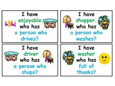 I have who has suffix and prefix game