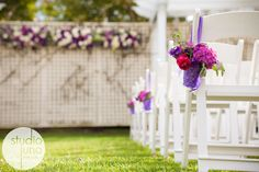 aisle / chairs/ flowers