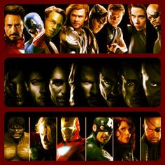 """3 of my favorite avengers are on here! Thor, Captain America, and Hawkeye """"the hot guy""""! Hahah (:"""