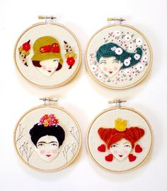 New stuff I've been working on by Yalipaz - Art and accessories on Flickr - embroidery wall art: